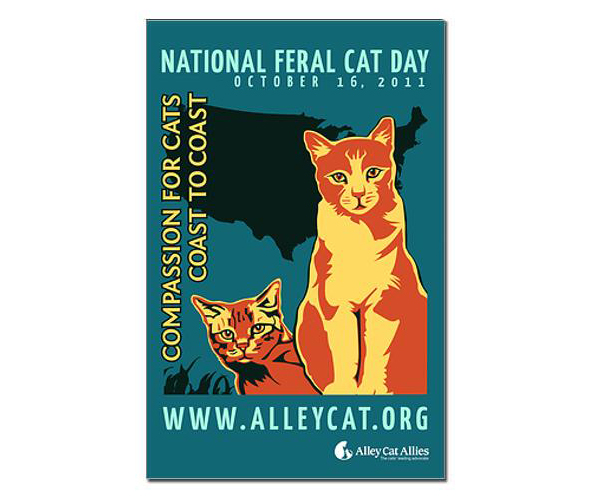 National Feral Cat Day 2011 poster